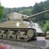 Ein Original-Sherman auf dem Schlosshof