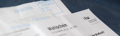 Briefwahlunterlagen der HTW Berlin