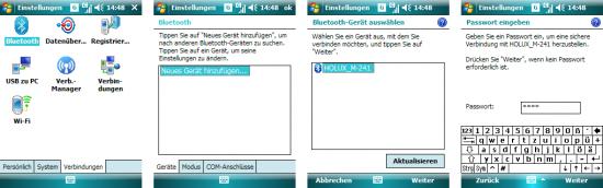Windows Mobile: Bluetooth-Gerät hinzufügen