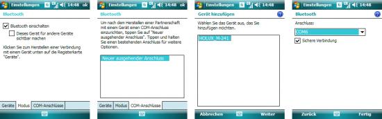 Windows Mobile: COM-Anschluss einrichten