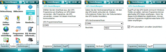 Windows Mobile: GPS-Einstellungen